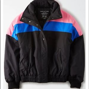 NWOT American Eagle Color Block Ski Jacket